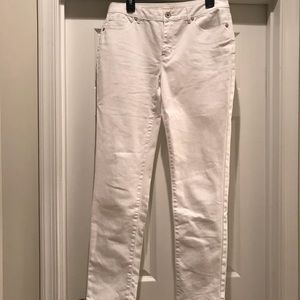 Coldwater Creek White Denim Skinny Jeans